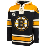 Boston Bruins Lace Jersey Pullover Hooded Sweatshirt by Old Time Hockey