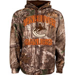 Vancouver Canucks Realtree Camo Parot Pullover Fleece Hoodie by Old Time Hockey