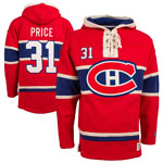 Carey Price Montreal Canadiens Lacer Heavyweight Pullover Hoodie by Old Time Hockey