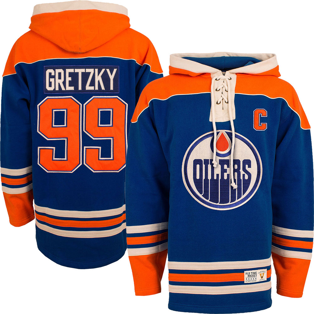 more photos a1703 7a507 Wayne Gretzky Edmonton Oilers Lacer Heavyweight Pullover Hoodie by Old Time  Hockey