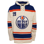 Edmonton Oilers Vintage Lacer Heavyweight Pullover Hoodie by Old Time Hockey