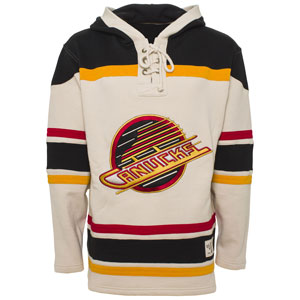 Vancouver Canucks Vintage Skate Logo Lacer Heavyweight Pullover Hoodie 0bae2fbe92c
