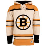 Boston Bruins Vintage Lacer Heavyweight Pullover Hoodie by Old Time Hockey