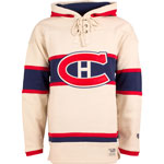 Montreal Canadiens Vintage Lacer Heavyweight Pullover Hoodie by Old Time Hockey