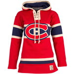 Montreal Canadiens Women's Lacer Heavyweight Pullover Hoodie by Old Time Hockey