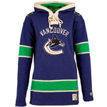 Vancouver Canucks Women's Lacer Heavyweight Pullover Hoodie by Old Time Hockey