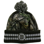 Boston Bruins Realtree Camo Eton Cuffed Knit Hat by Old Time Hockey