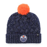 Edmonton Oilers Women's Fiona Pom Cuffed Knit Hat by '47