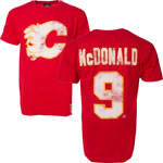 Lanny McDonald Calgary Flames Alumni Player Name & Number T-Shirt by Old Time Hockey