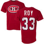 Patrick Roy Montreal Canadiens Alumni Player Name & Number T-Shirt by Old Time Hockey