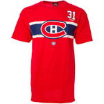 Carey Price Montreal Canadiens Stripes Player Name and Number T-Shirt by Old Time Hockey
