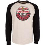 Ottawa Senators Spheric Long Sleeve T-Shirt by Old Time Hockey