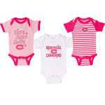 Montreal Canadiens Newborn Girls Pink Lizzy 3-Piece Creeper Set by Old Time Hockey