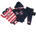 Montreal Canadiens Newborn Magee Full-Zip Hoodie, Pant & Creeper Set by Old Time Hockey