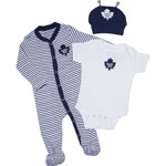 Toronto Maple Leafs Newborn Ring Around Creeper, Sleeper & Hat Set by Old Time Hockey