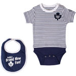 Toronto Maple Leafs Newborn Skipper Onesie & Bib Set by Old Time Hockey