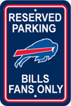 Fremont Die Buffalo Bills Plastic Reserved Parking Sign