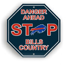 Fremont Die Buffalo Bills Plastic Stop Sign
