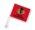 Fremont Die Chicago Blackhawks Double Sided Car Flag