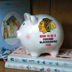 The Memory Company Chicago Blackhawks Born To Be Ceramic Piggy Bank