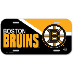 Wincraft Boston Bruins Plastic License Plate