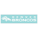 Wincraft Denver Broncos 4''x17'' Die Cut Decal