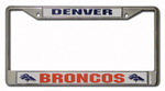 Rico Industries Denver Broncos Metal License Plate Frame