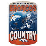 Wincraft Denver Broncos Wood Sign