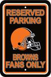 Fremont Die Cleveland Browns Plastic Reserved Parking Sign