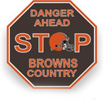 Fremont Die Cleveland Browns Plastic Stop Sign