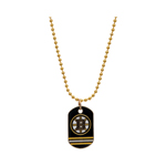 JF Sports Boston Bruins Dog Tag Necklace