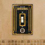 The Memory Company Boston Bruins Single Art Glass Light Switch Plate Cover