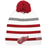 Detroit Red Wings Centennial Classic 2017 Goalie Cuffed Knit Hat by Reebok