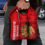 JF Sports Chicago Blackhawks 6-Pack Neoprene Bottle Tote