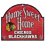 Wincraft Chicago Blackhawks Home Sweet Home Wood Sign