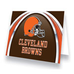 Hunter Manufacturing Cleveland Browns Greeting Card