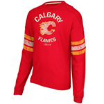 CCM Calgary Flames Ice Pro Appliqué Long Sleeve Crew T-Shirt