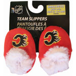 Forever Collectibles Calgary Flames Baby Bootie Slippers