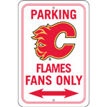 Fremont Die Calgary Flames Plastic Reserved Parking Sign