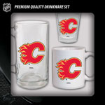 Hunter Manufacturing Calgary Flames Drinkware Fan Pack - Set of 3