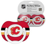 First Time Fan Calgary Flames 2-Pack Baby Pacifier Set