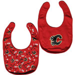 Calgary Flames 2-Piece Baby Bib Set by Mighty Mac