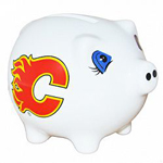 Calgary Flames Ceramic Piggy Bank