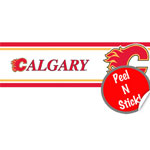 Trademarx Calgary Flames Peel-N-Stick Wall Border