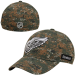 Detroit Red Wings Digital Camo Flex Fit Hat by Reebok