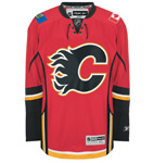 Reebok Calgary Flames Big & Tall Premier Replica Home NHL Hockey Jersey