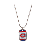 JF Sports Montreal Canadiens Dog Tag Necklace