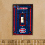 The Memory Company Montreal Canadiens Single Art Glass Light Switch Plate Cover