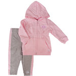 Montreal Canadiens Toddler Girls Pink Full-Zip Fleece Hooded Sweatshirt & Pants Set by Mighty Mac