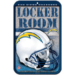 Wincraft San Diego Chargers Plastic Locker Room Sign